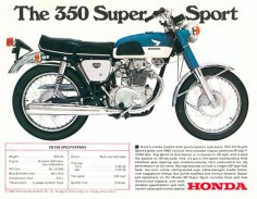 Honda 350 - 1970, my 3rd  after the Suzuki X-6 Hustler died. After a crash, I rebuilt it as a baby chopper!