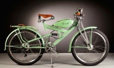 Italian bike designer, Agnelli Milan Bikes, is making the old new again by repurposing vintage 1950s auto parts into gorgeouselectric bikes attractive.