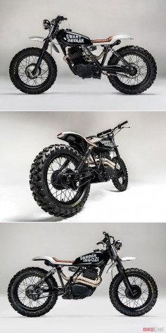 Los Muertos Motorcycles fires a projectile from its Cape Town workshop. Meet 'Swart Gevaar,' a Honda XL500 with an attitude problem.