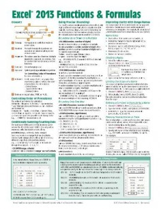 Microsoft Excel 2013 Functions & Formulas Quick Reference Card (4-page Cheat Sheet focusing on examples and context for intermediate-to-advanced functions and formulas- Laminated Guide)/Beezix Inc.