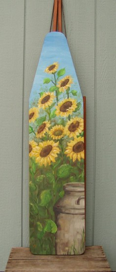 Milk Can with Sunflowers ironing board