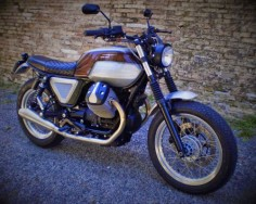 Moto Guzzi Brat Style Brown Sugar by FMW Motorcycles #motorcycles #bratstyle #motos |