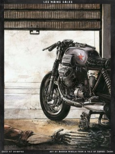 Moto Guzzi Cafe Racer - Andrea Minoja#motorcycles #caferacer #motos #illustration #design #motorcycles #motos |