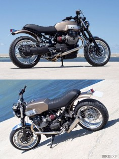 Moto Guzzi V7 by Officine Rosspuro with 935cc engine from the Bellagio.