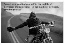 Motorcycle - sportbike - rider - quote - middle of nowhere
