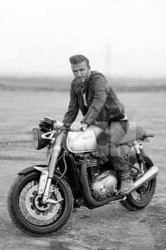 Not only does this image reveal footballing legend David Beckham wearing Belstaff riding gear as part of his role in a new movie called Outlaws but it also shows for the first time the all-new