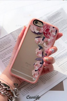 Pretty #pink flowers. Click through to see more floral iPhone 6 designs >>>  | @Casetify