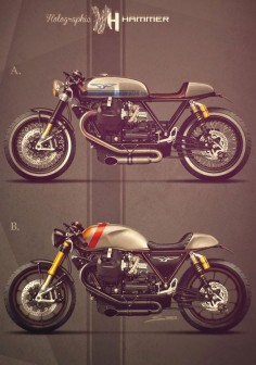 Racing Cafè: Cafè Racer Concepts - Moto Guzzi California 1400 by Holographic Hammer