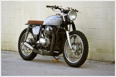 "Steel Bent Custom's CB 750 -  ""The Brat."""
