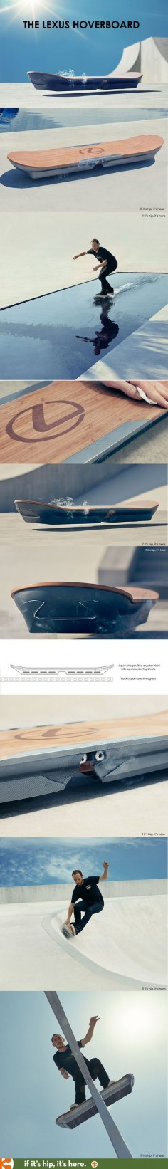 The Lexus Hoverboard, they may have had metal under Hill  They just never told you. Back to the Future!!!