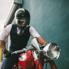 The Suited Racer #motorcycles #caferacer #motos |