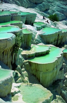 Turkey natural rock pools