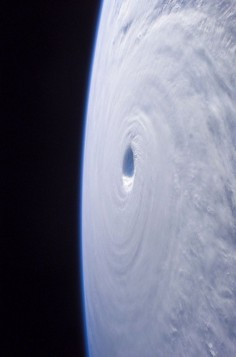 View of hurricane from space