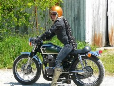 Vintage Honda made into a cafe racer