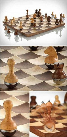 Ensemble date 1890 91 culture french medium silk glass leather - Wobble chess set by umbra ...