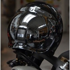 Wrenchmonkees Biltwell Gringo helmet and Biltwell Bubble Shield
