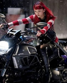 Yukio still from The Wolverine (and the Ducati Diavel, )