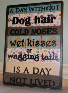 A Day Without Dog Hair, Dog Owners, Pet Lovers, Wall Decor, Unique Gifts
