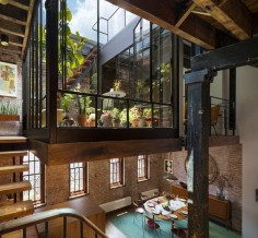 By architect Andrew Franz. 19th century soap factory transformed in Tribeca, a unique loft apartment.