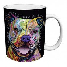 Colorful Pitbull Coffee Mug