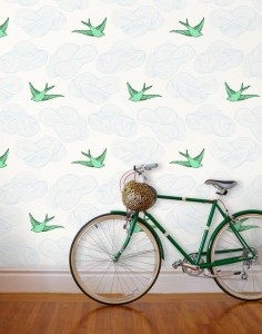 Daydream (Green) by Hygge and West. I want this wallpaper for my half bath but it's out of my price range. I wonder if I could find a similar stencil somewhere?