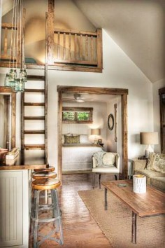 From Brooke Smith Interiors, a guest cottage on Leech Lake in Minnesota.