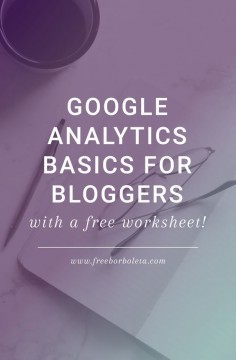 Google Analytics Basics  for Bloggers by Fran
