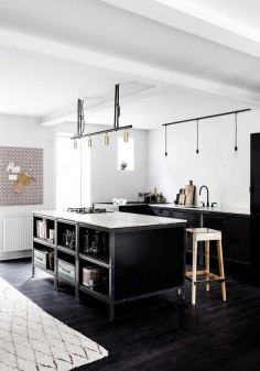 Gravity Home: Black industrial Frama kitchen