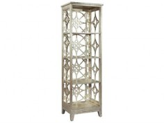 Hekman Accents Silver Metal Leaf Moroccan Etagere
