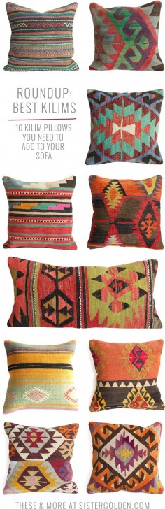 Kilim pillows that will add instant boho style to any drab couch!