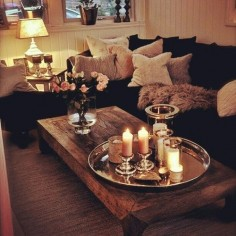 Love the soft lighting and cozy pillows!