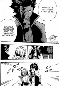 Lucy hits Gray -fairy tail (if Gray is evil then why did he let Lucy hit him. Gray probably couldn't ever hurt Lucy.