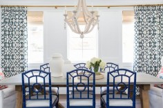 Navy dining chairs || Studio McGee
