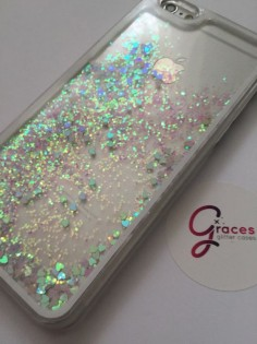 Pink Liquid Heart moving glitter iPhone 6 6 by GracesGlitterCases