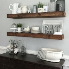 shanty2chic dining room floating shelves by @