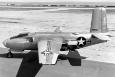 The Douglas XB-43 Jetmaster was an American 1940s jet-powered prototype bomber. The XB-43 was a development of the XB-42, replacing the piston engines of the XB-42 with two General Electric J35 engines of 4,000 lbf ( kN) thrust each. Despite being the first American jet bomber to fly, it suffered stability issues and the design did not enter production.