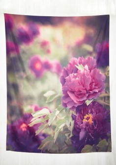 Viewpoint in Time Tapestry - Multi, Floral, Print, Dorm Decor, Spring, Best, Purple