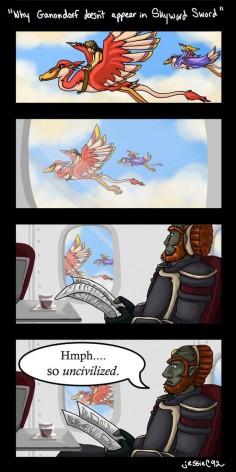 Why Ganondorf doesn't Appear in Skyward Sword by WhatJessieSees on DeviantArt. Lol xD