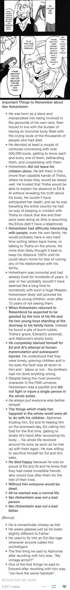 Why Hohenheim is my favorite and gives me all the feels. Plus he reminds me of my own dad. :)