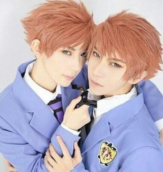 @Willie  and KumaQi {China} as Hikaru Hitachiin and Kaoru Hitachiin {Ouran High School Host Club}