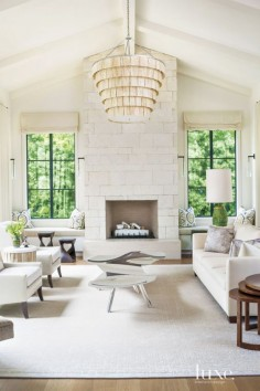Contemporary Cream Living Room with Sculptural Coffee Table