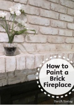 Easily refinish your old brick fireplace and give it a brand new look by painting it. Check out this great DIY tutorial for the best tips and tricks to make a big impact with a small budget. Make sure to add Bounty Paper Towels to your project supply list!