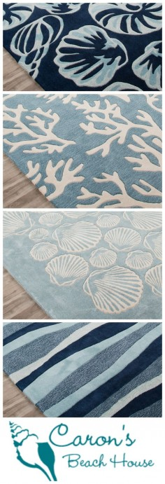 Need a seaside escape? Create your own coastal retreat without ever leaving home - Try a new blue plush coastal area rug!